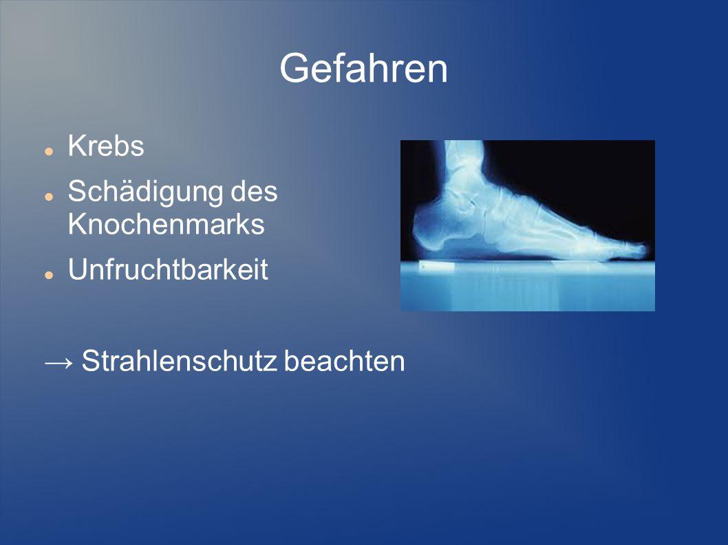 Quellen http://de.wikipedia.org/wiki/R%C3%B6ntgenstrahlung http://de.wikipedia.org/wiki/Bremsstrahlung http://www.abi-physik.de/buch/quantenmechanik/roentgenstrahlung/ http://de.wikipedia.org/wiki/Wilhelm_Conrad_R%C3%B6ntgen#Wissenschaftliche_Arbeit http://www.medica.de/cipp/md_medica/custom/pub/content,oid,21200/lang,1/ticket,g_u_e_s_t/mcat_id,8254/local_lang,1 http://www.medica.de/cipp/md_medica/custom/pub/content,oid,21200/lang,1/ticket,g_u_e_s_t/mcat_id,8254/local_lang,1 http://de.wikipedia.org/wiki/Wilhelm_Conrad_R%C3%B6ntgen http://www.leifiphysik.de/themenbereiche/atomarer- energieaustausch/aufgaben#lightbox=/themenbereiche/atomarer-energieaustausch/lb/atomarer- energieaustausch-musteraufgaben-oberstufe-20 http://www.leifiphysik.de/themenbereiche/atomarer- energieaustausch/aufgaben#lightbox=/themenbereiche/atomarer-energieaustausch/lb/atomarer- energieaustausch-musteraufgaben-oberstufe-20 http://www.tf.uni-kiel.de/matwis/amat/mw2_ge/kap_3/illustr/bild9.gif http://www.desy.de/pr-info/Roentgen-light/roentgenstrahlung/roentgenstrahlung6.html