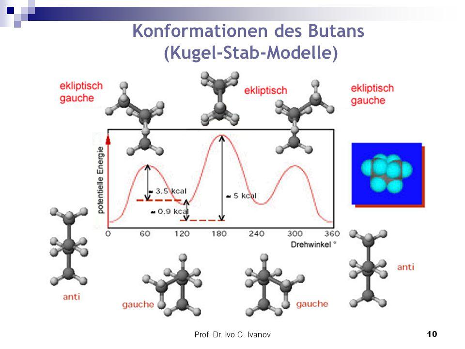Prof. Dr. Ivo C. Ivanov10 Konformationen des Butans (Kugel-Stab-Modelle)