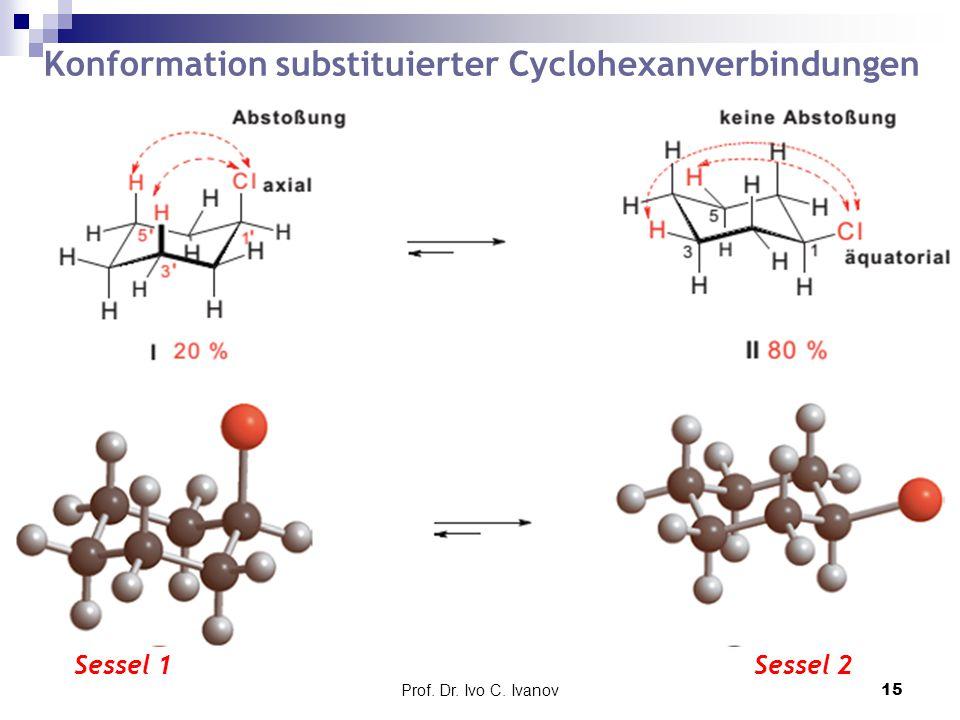 Prof. Dr. Ivo C. Ivanov15 Konformation substituierter Cyclohexanverbindungen Sessel 1Sessel 2