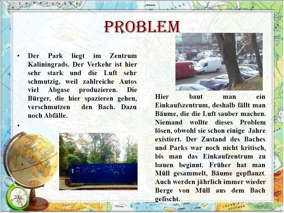 Problem Der Park liegt im Zentrum Kaliningrads.