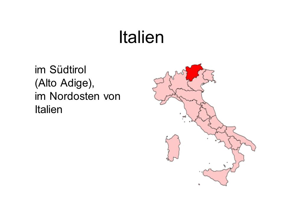 Italien im Südtirol (Alto Adige), im Nordosten von Italien