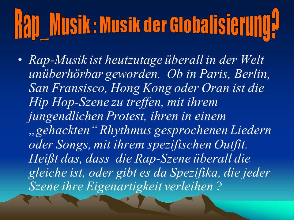 Aufgabe: Entstehung und Entwicklung des deutschen Rap : ein Exposé.