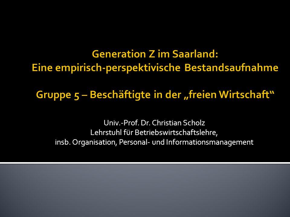 Univ.-Prof. Dr. Christian Scholz Lehrstuhl für Betriebswirtschaftslehre, insb.