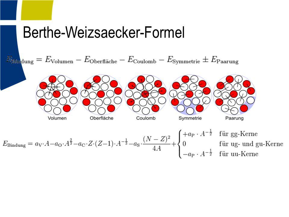 Berthe-Weizsaecker-Formel