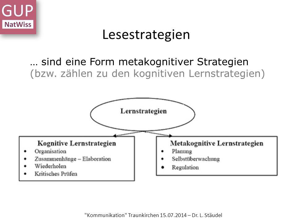Lesestrategien Kommunikation Traunkirchen 15.07.2014 – Dr.