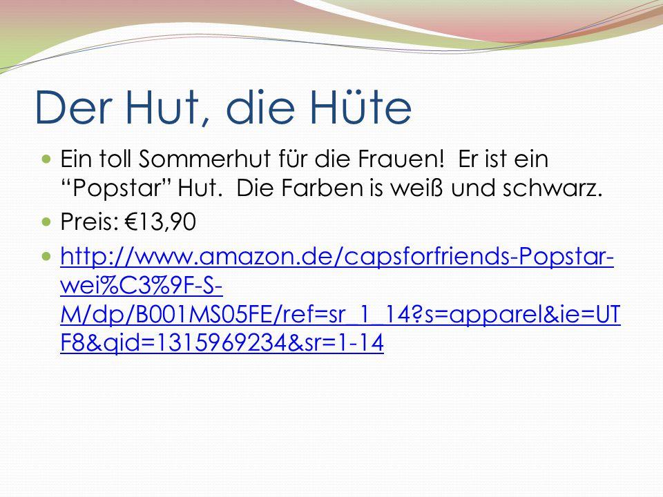 """Der Hut, die Hüte Ein toll Sommerhut für die Frauen! Er ist ein """"Popstar"""" Hut. Die Farben is weiß und schwarz. Preis: €13,90 http://www.amazon.de/caps"""