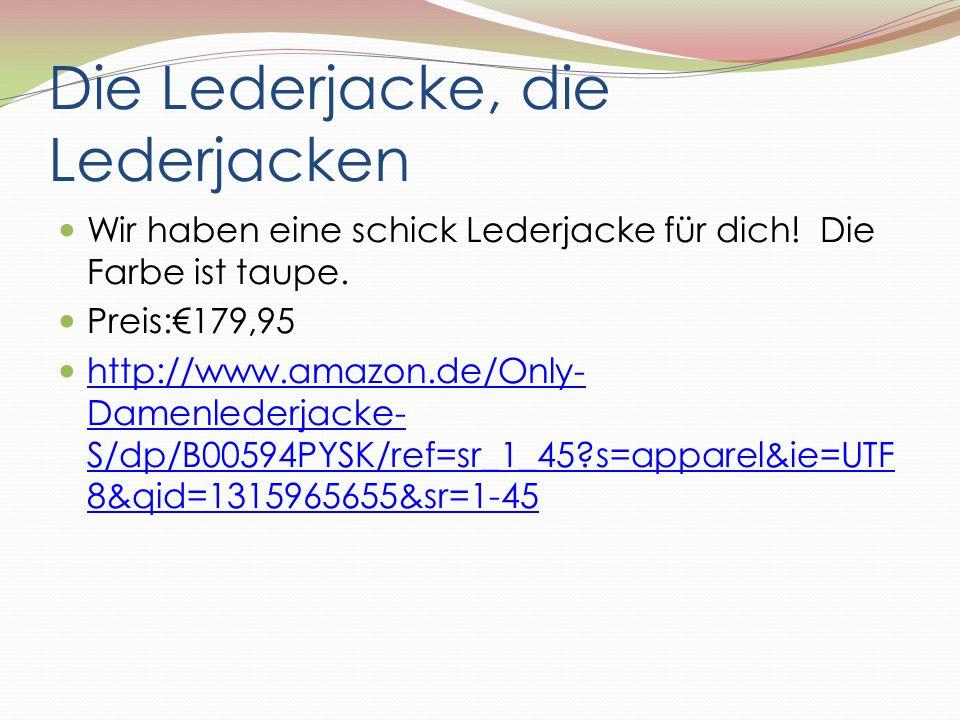 Die Lederjacke, die Lederjacken Wir haben eine schick Lederjacke für dich! Die Farbe ist taupe. Preis:€179,95 http://www.amazon.de/Only- Damenlederjac
