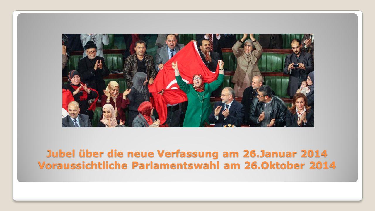 Jubel über die neue Verfassung am 26.Januar 2014 Voraussichtliche Parlamentswahl am 26.Oktober 2014