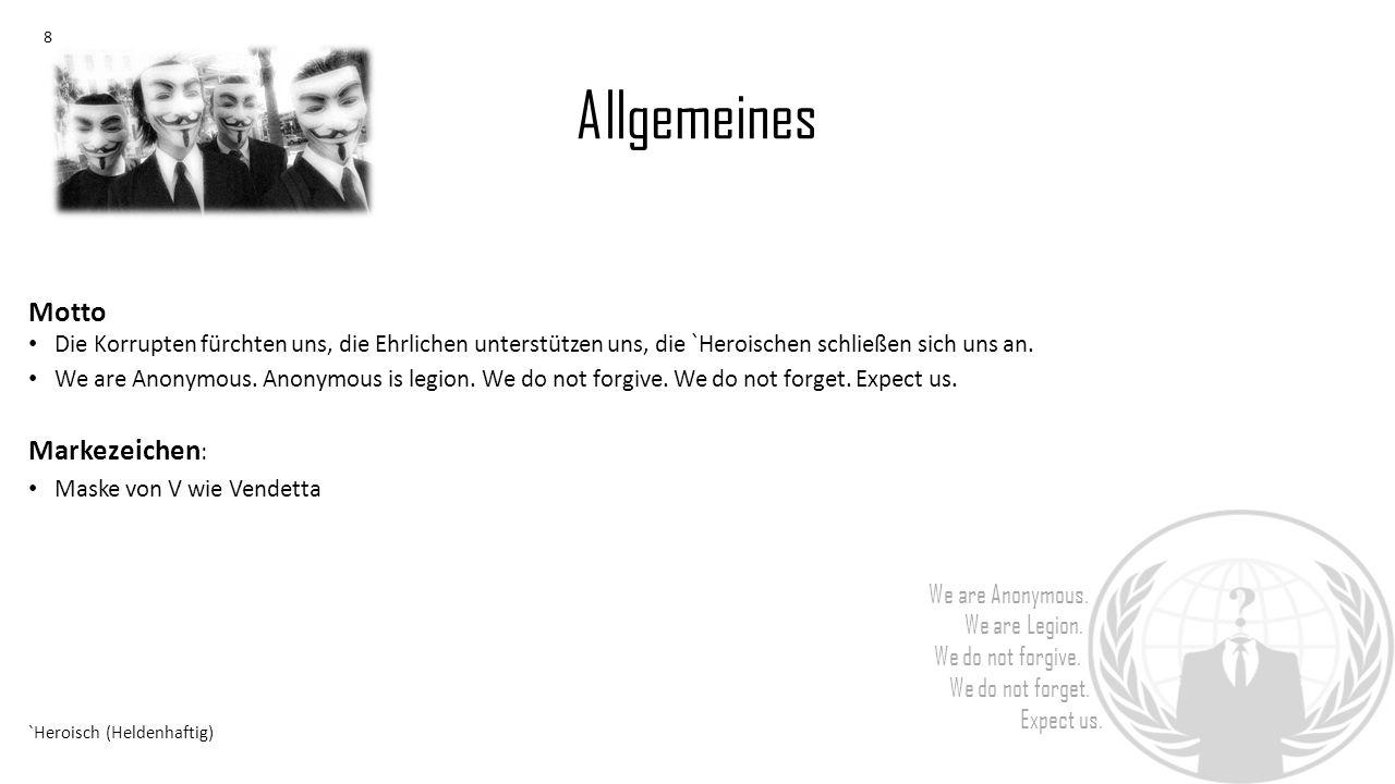 Quellenverzeichnis : We are Anonymous.We are Legion.