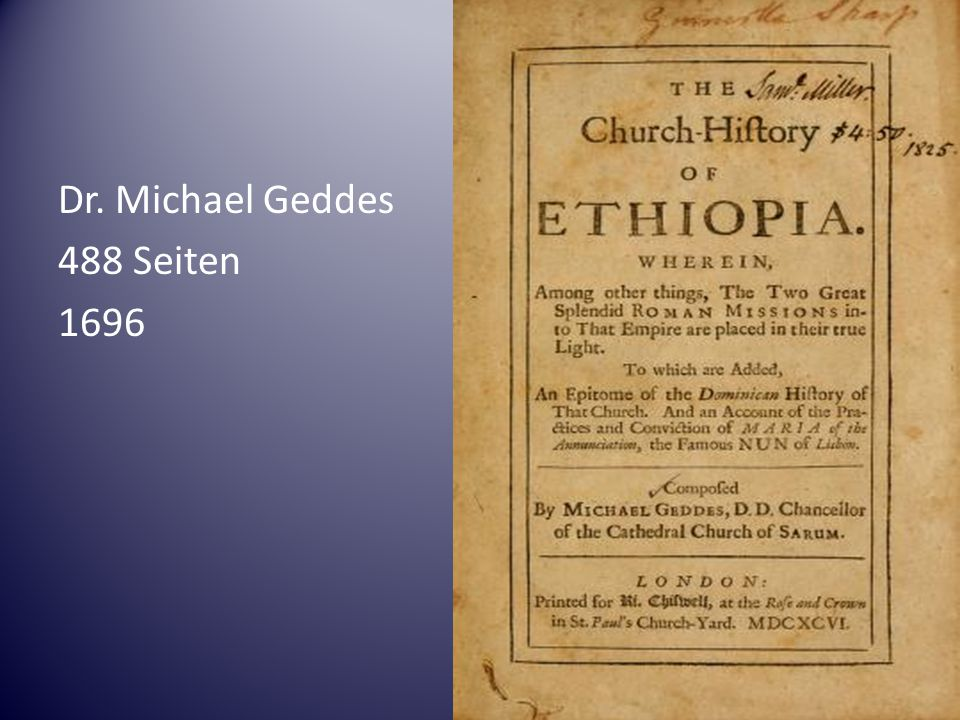 Dr. Michael Geddes 488 Seiten 1696