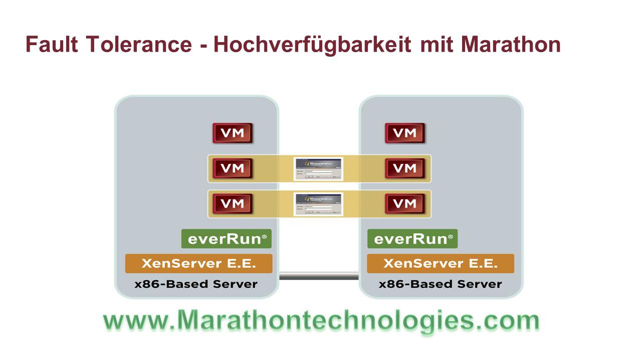 Fault Tolerance - Hochverfügbarkeit mit Marathon
