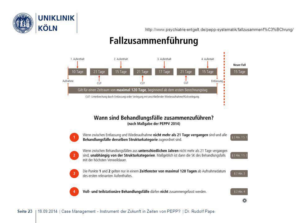 18.09.2014 | Case Management - Instrument der Zukunft in Zeiten von PEPP? | Dr. Rudolf PapeSeite 23 http://www.psychiatrie-entgelt.de/pepp-systematik/