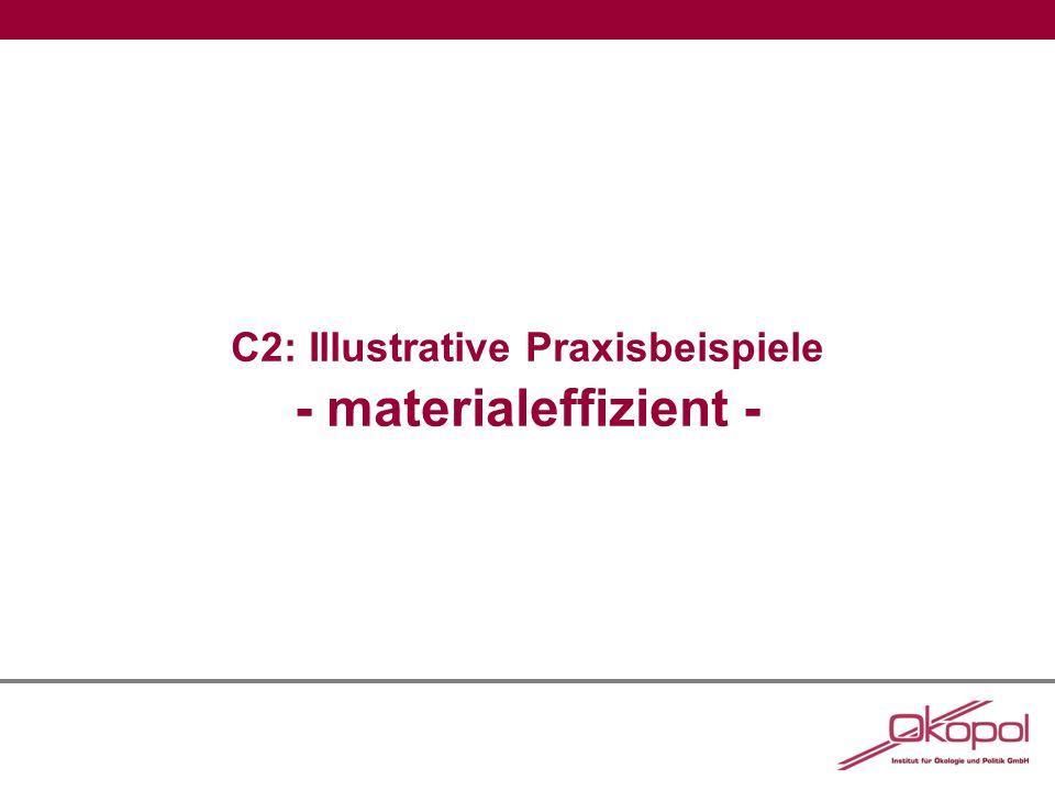 C2: Illustrative Praxisbeispiele - materialeffizient -