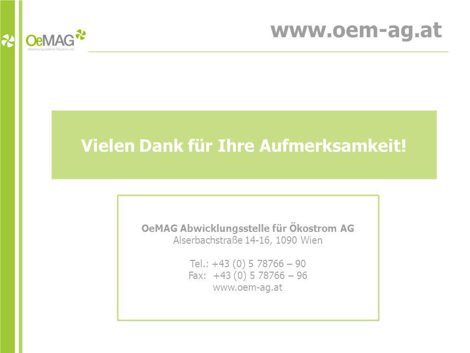www.oem-ag.at Vielen Dank für Ihre Aufmerksamkeit.