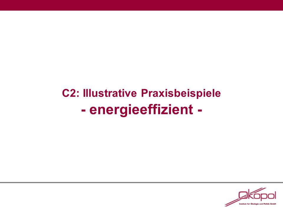 C2: Illustrative Praxisbeispiele - energieeffizient -