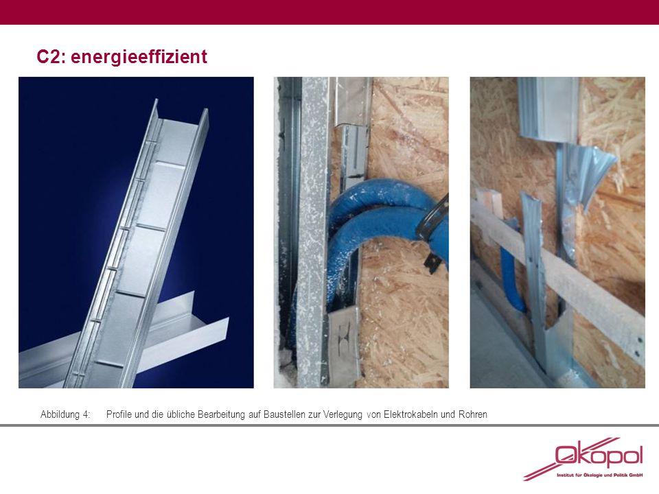 C2: energieeffizient Abbildung 5:Eine ausgeklügelte Schnittgeometrie inklusive Falttechnik führen zu Aussparungen im Profil, die Material sparen und gleichzeitig die Statik erhalten