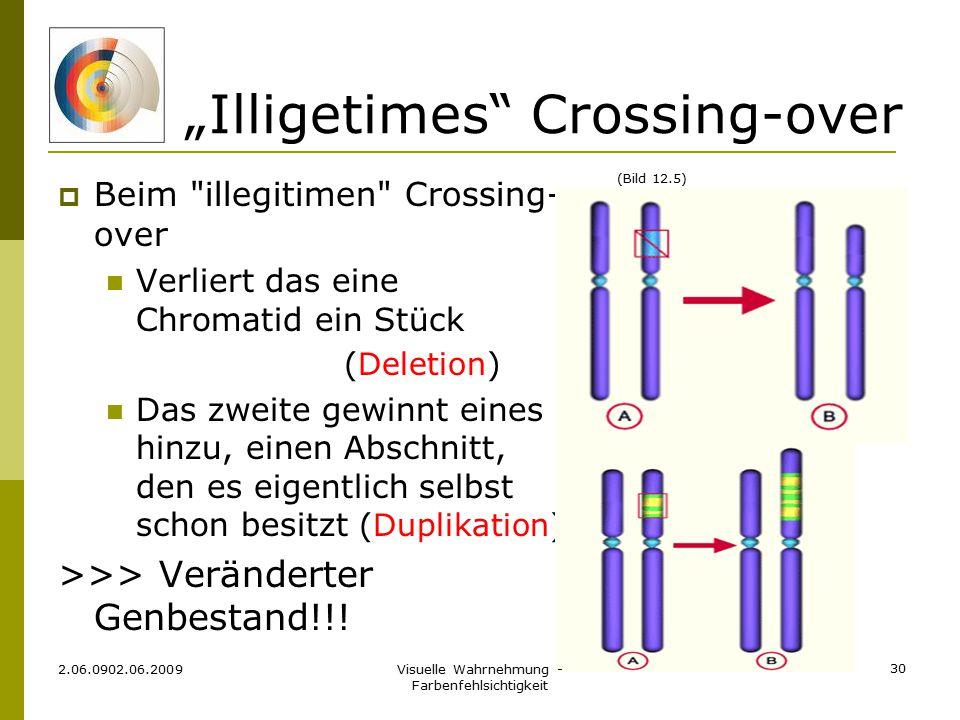 """Illigetimes"" Crossing-over  Beim"