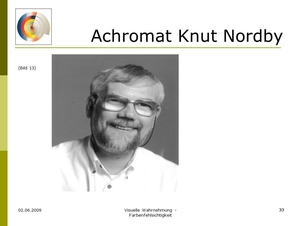 Visuelle Wahrnehmung - Farbenfehlsichtigkeit 33 Achromat Knut Nordby 02.06.2009 33 (Bild 13)