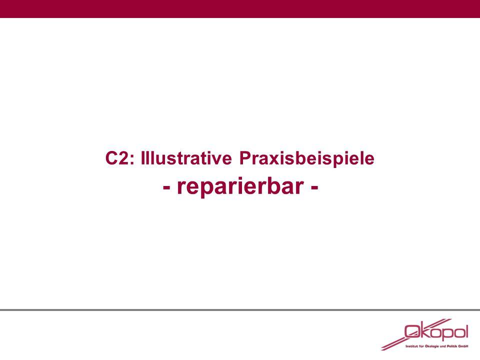 C2: Illustrative Praxisbeispiele - reparierbar -