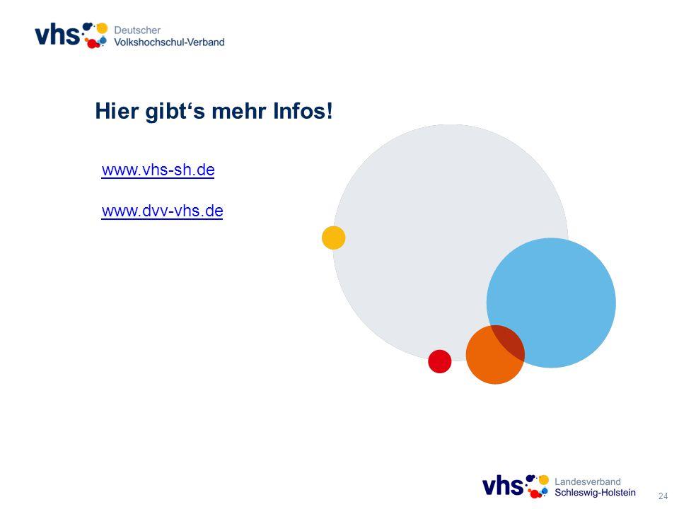 24 Hier gibt's mehr Infos! www.vhs-sh.de www.dvv-vhs.de