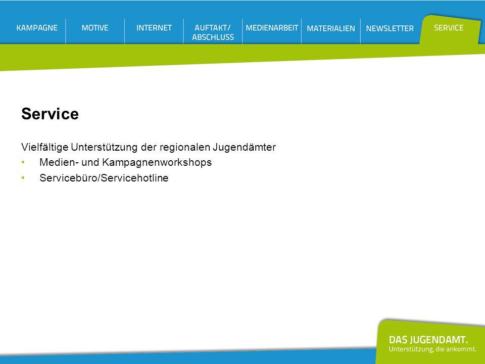 Vielfältige Unterstützung der regionalen Jugendämter Medien- und Kampagnenworkshops Servicebüro/Servicehotline
