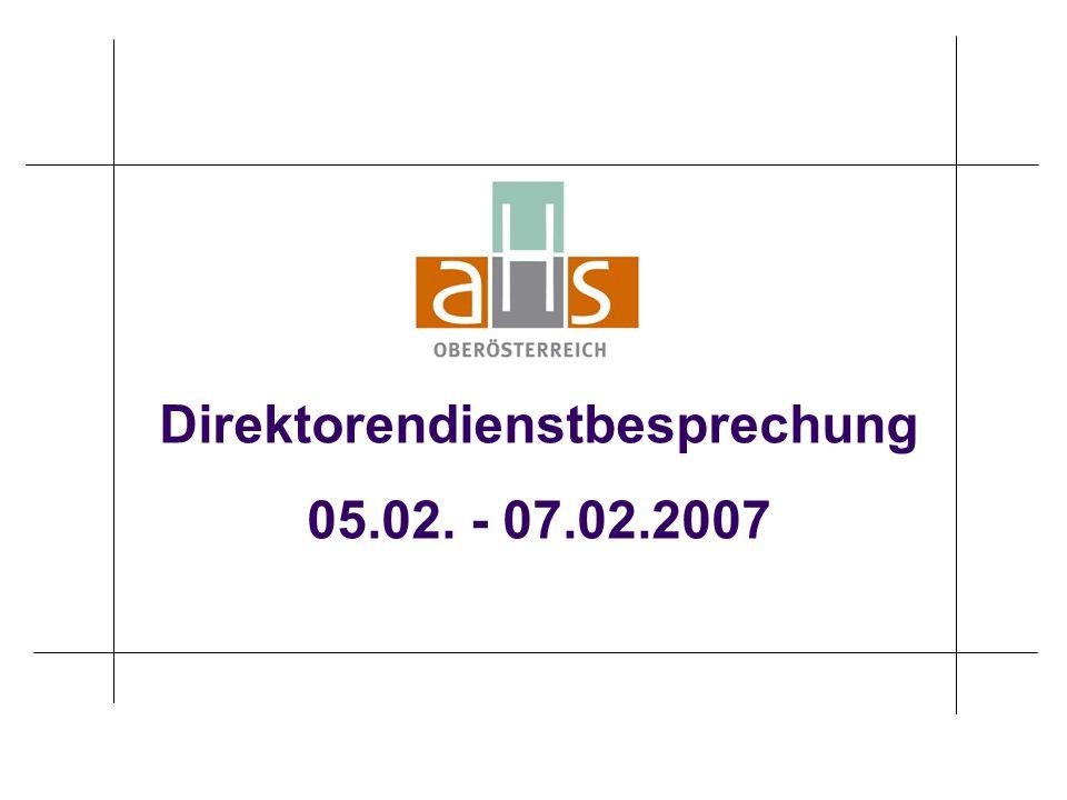 Direktorendienstbesprechung 05.02. - 07.02.2007