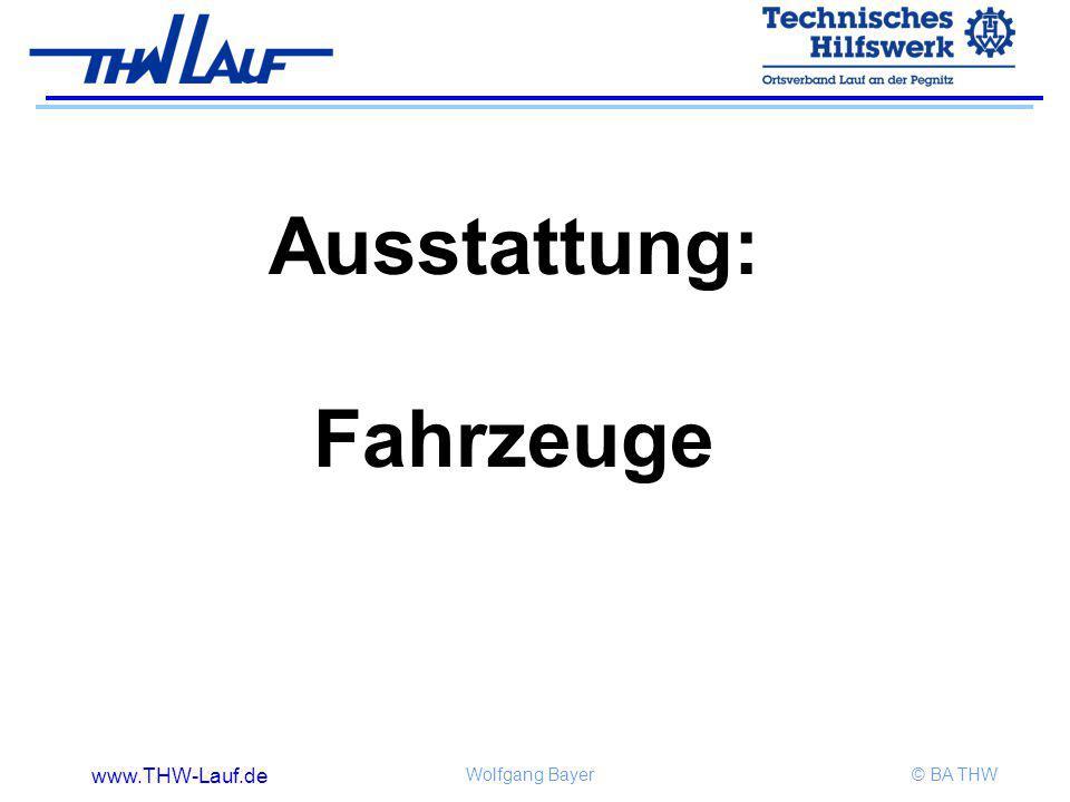 www.THW-Lauf.de Wolfgang Bayer© BA THW Ausstattung: Fahrzeuge