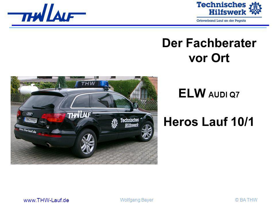www.THW-Lauf.de Wolfgang Bayer© BA THW Der Fachberater vor Ort ELW AUDI Q7 Heros Lauf 10/1