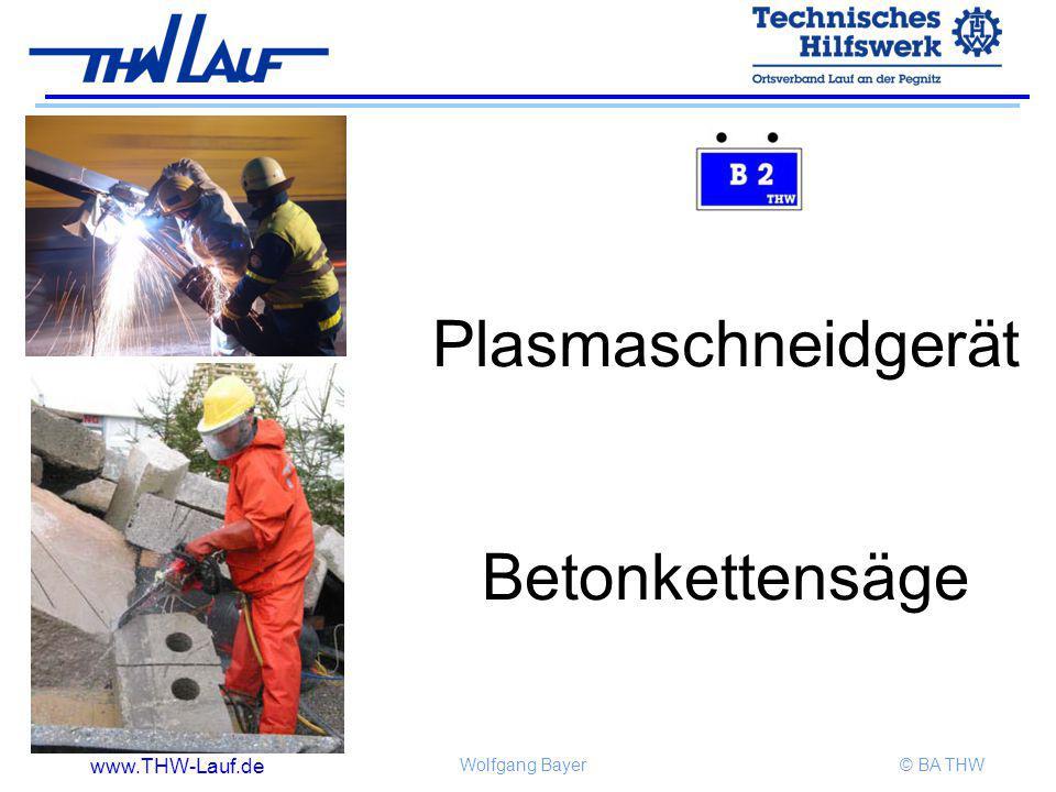 www.THW-Lauf.de Wolfgang Bayer© BA THW Plasmaschneidgerät Betonkettensäge