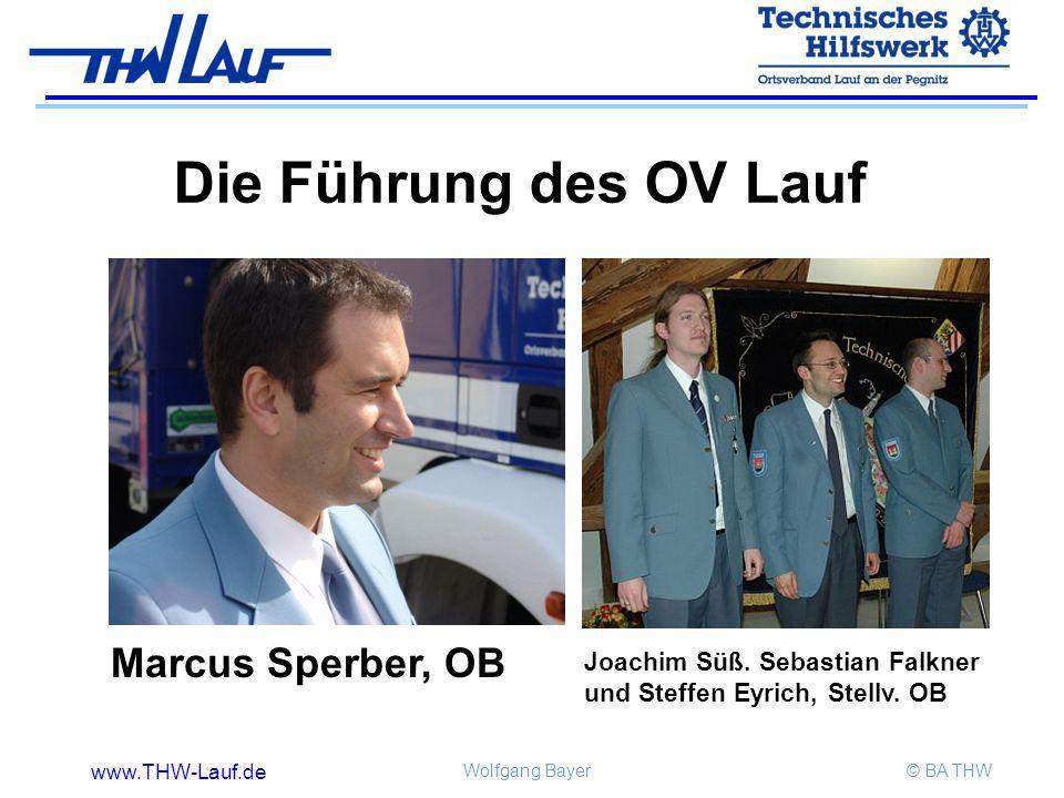 www.THW-Lauf.de Wolfgang Bayer© BA THW Die Führung des OV Lauf Marcus Sperber, OB Joachim Süß. Sebastian Falkner und Steffen Eyrich, Stellv. OB