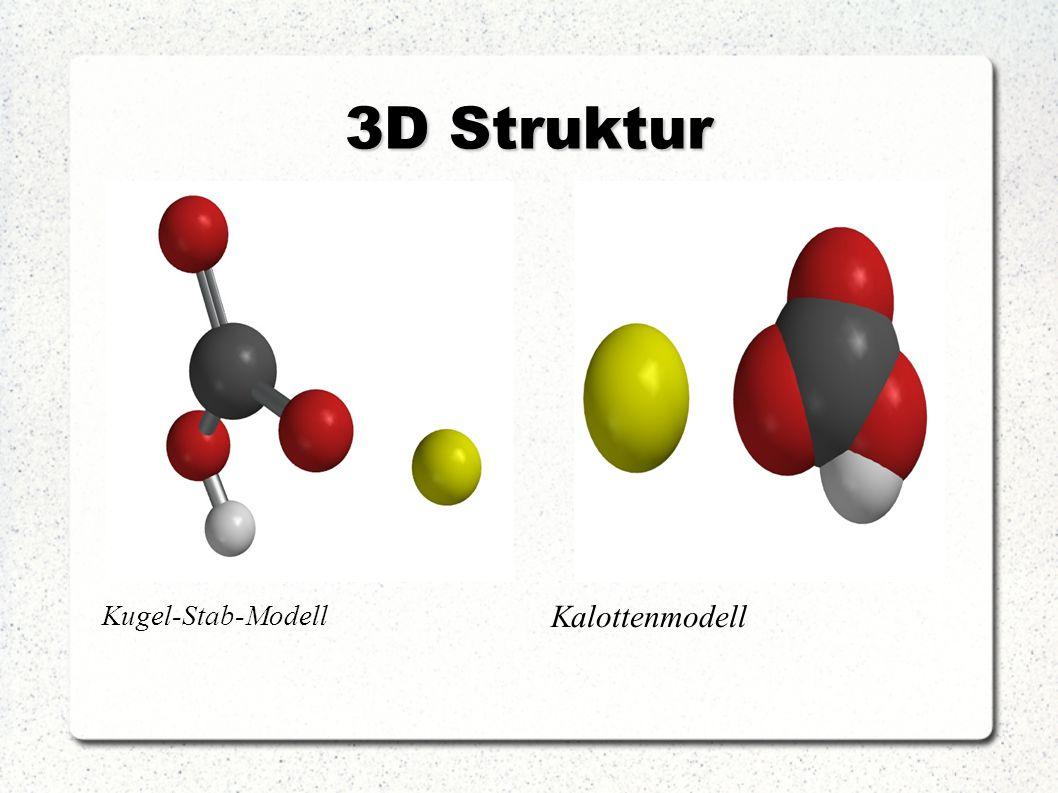3D Struktur Kalottenmodell Kugel-Stab-Modell