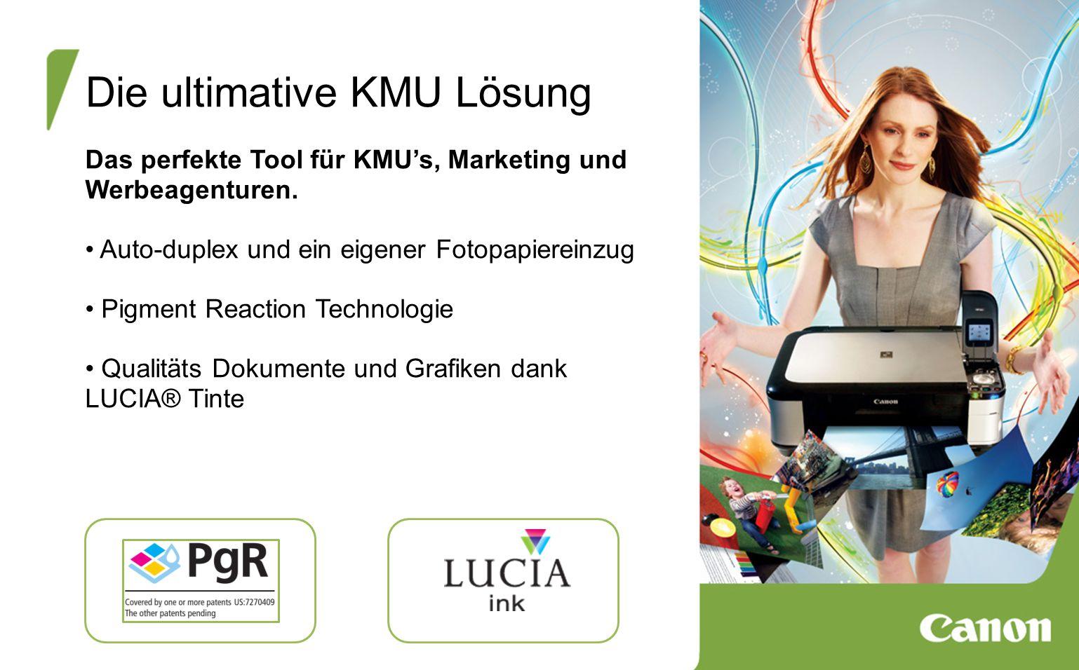 Die ultimative KMU Lösung Das perfekte Tool für KMU's, Marketing und Werbeagenturen.
