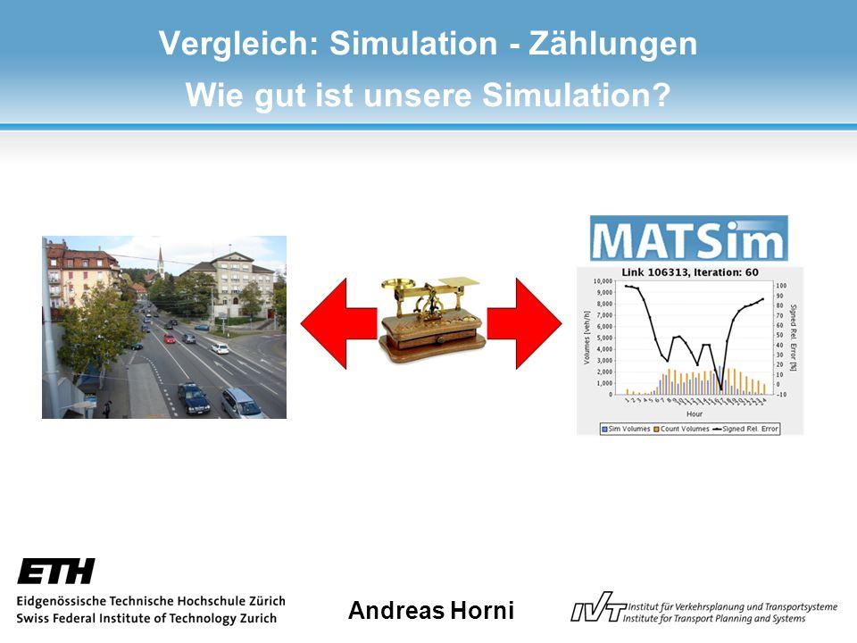 Vergleich: Simulation - Zählungen Wie gut ist unsere Simulation Andreas Horni