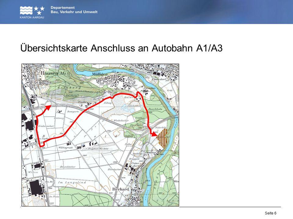 Seite 6 Übersichtskarte Anschluss an Autobahn A1/A3