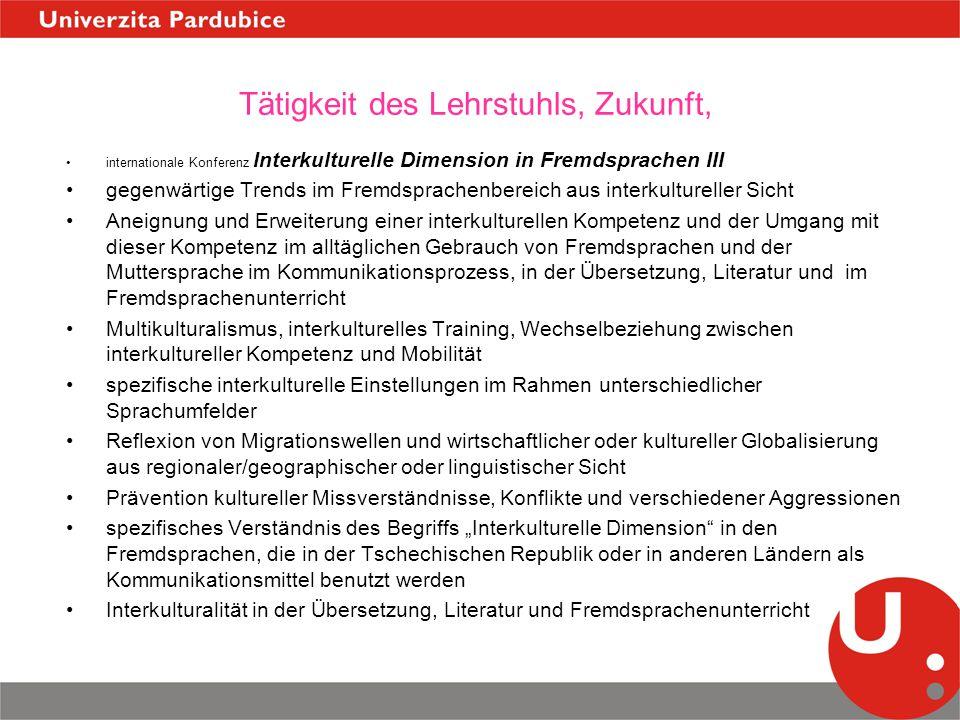 Tätigkeit des Lehrstuhls, Zukunft, internationale Konferenz Interkulturelle Dimension in Fremdsprachen III gegenwärtige Trends im Fremdsprachenbereich
