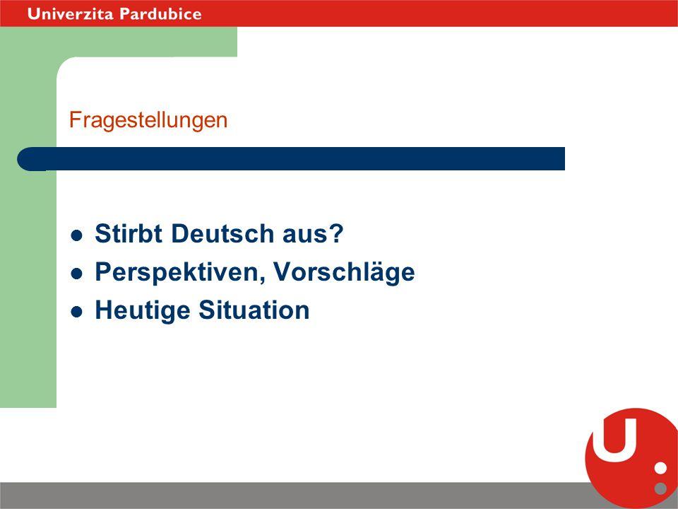 Geschichte der Germanistik in Pardubice 1.Lehrerausbildung an der Pardubitzer Universität(Bachelor,Master) 2.Deutsch für den Beruf bzw.