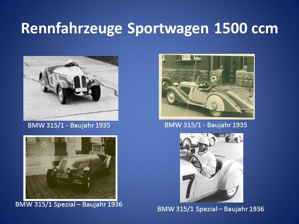 Rennfahrzeuge Sportwagen 1500 ccm BMW 315/1 - Baujahr 1935 BMW 315/1 Spezial – Baujahr 1936