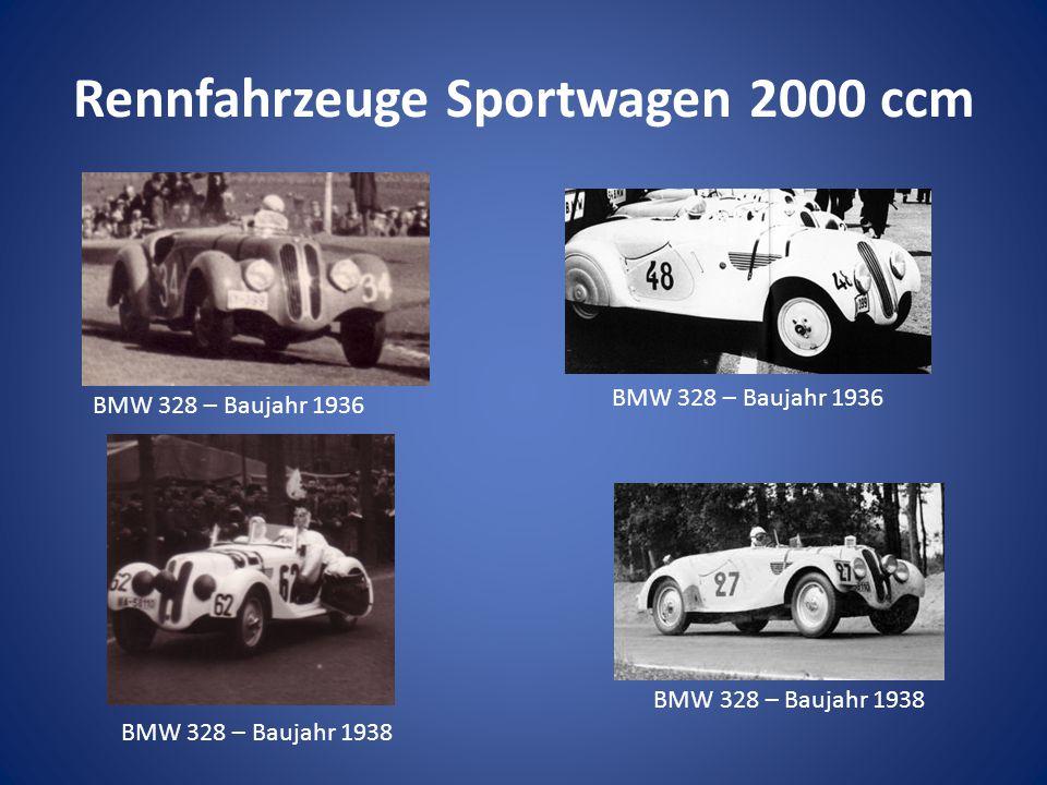 Rennfahrzeuge Sportwagen 2000 ccm BMW 328 – Baujahr 1936 BMW 328 – Baujahr 1938 BMW 328 – Baujahr 1936 BMW 328 – Baujahr 1938