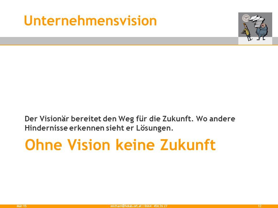 Ohne Vision keine Zukunft Der Visionär bereitet den Weg für die Zukunft.