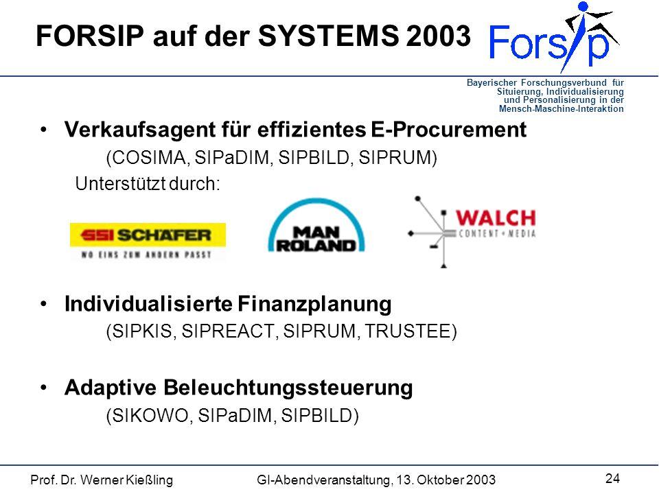 Bayerischer Forschungsverbund für Situierung, Individualisierung und Personalisierung in der Mensch-Maschine-Interaktion Prof.