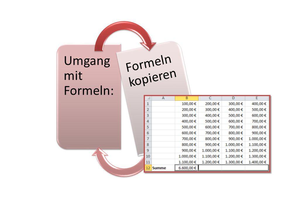 Umgang mit Formeln: Formeln kopieren