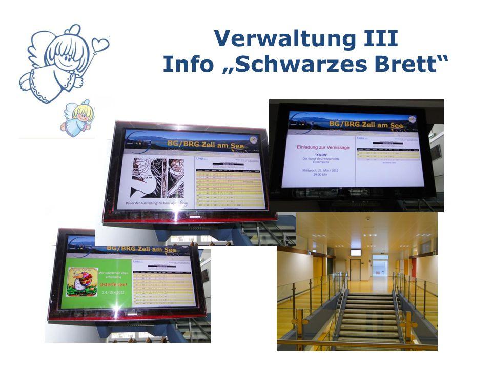 "Verwaltung III Info ""Schwarzes Brett"