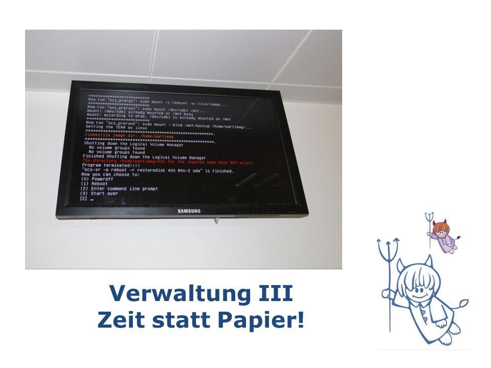 Verwaltung III Zeit statt Papier!