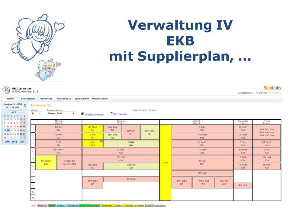 Verwaltung IV EKB mit Supplierplan, …