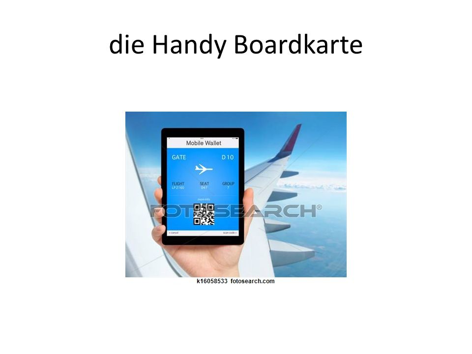 die Handy Boardkarte