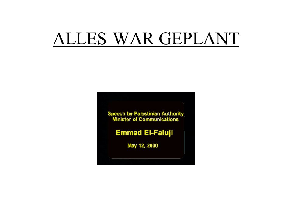 ALLES WAR GEPLANT