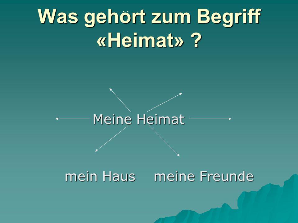 Ziele der Stunde  Познакомиться с новой лексикой по теме «Die Heimat»  Учиться употреблять новую лексику в речи, и при письме  Учиться работать с к