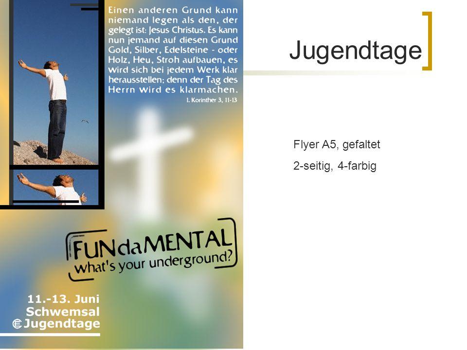 Jugendtage Flyer A5, gefaltet 2-seitig, 4-farbig
