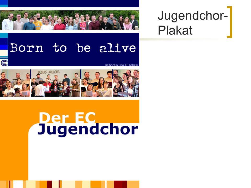 Jugendchor- Plakat