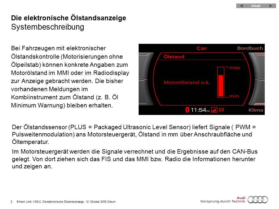 4Erhard Lindl, I/GS-2, Die elektronische Ölstandsanzeige, 12.